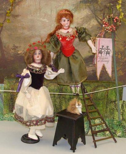 OCEANA et FANNY Funambules : deux poupées,...
