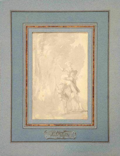 Attribué à Charles EISEN (1720-1778)  Projet...