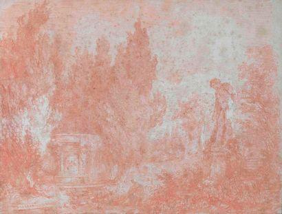 Hubert ROBERT (1733-1808)  L'offrande à Pan,...