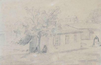 Eugène DELACROIX (1798 - 1863)   Paysage,...
