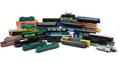 HORNBY : lot de rails - partie de gare démontée...