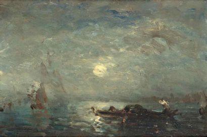 Félix ZIEM (1821-1911)  Gondole au clair...