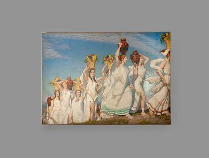 Henri Marius BOUVET (1859-1945)  La procession...
