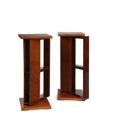 André SORNAY (1902-2000)  Paire de tables...