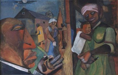 Romare Howard BEARDEN (1911-1988)  The rites...