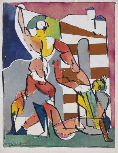 Romare Howard BEARDEN (1911-1988)  Scène...