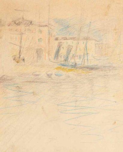 Attribué à Berthe MORISOT (1841-1895)  Le...