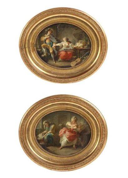 Attribué à Pierre Antoine BAUDOUIN (1723-1769)...