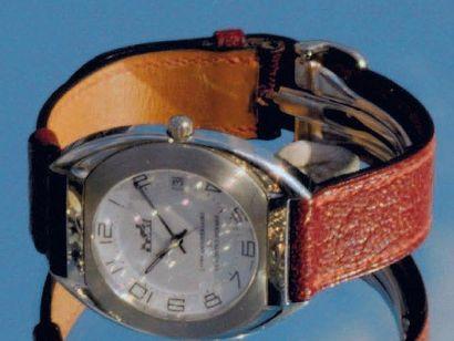 Montre bracelet d'homme à quartz en acier...