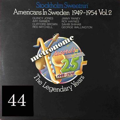 Lot d'environ 8 vinyles : compilation de...