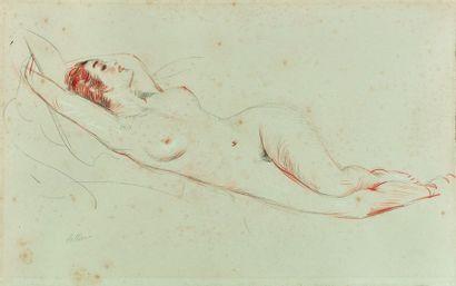 Paul César HELLEU (1859-1927) : Nu allongé...