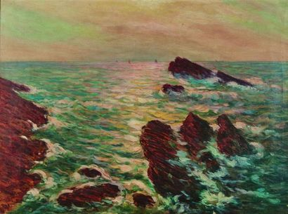 Arsène CHABANIAN (1864-1949) : Les Rochers....