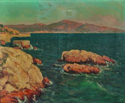 Arsène CHABANIAN (1864-1949) : Côte méditerranéenne....