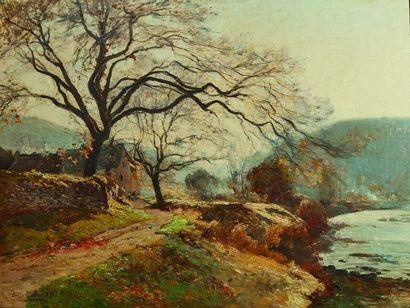 Louis Alexandre CABIE (1854-1939) : Paysage...