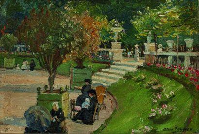 Alice Maud FANNER (1865-1930) : La Balustrade,...