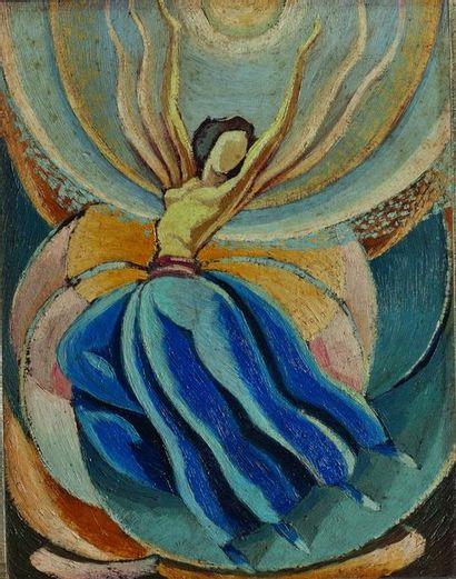 Enrico CASTELLO (CHIN) (1890-1966) : Danzatrice....