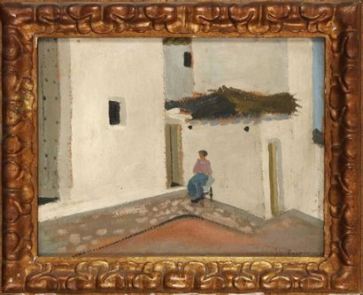 Gregorio PRIETO MUNOZ (1897-1992) : Le Patio....