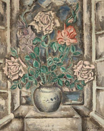 Sei KOYANAGUI (1896-1948) : Vase de roses....