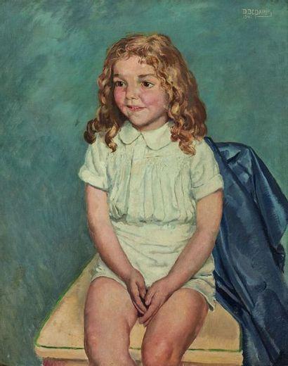 Daniel DEPARIS (XXe siècle) : Portrait d'un...
