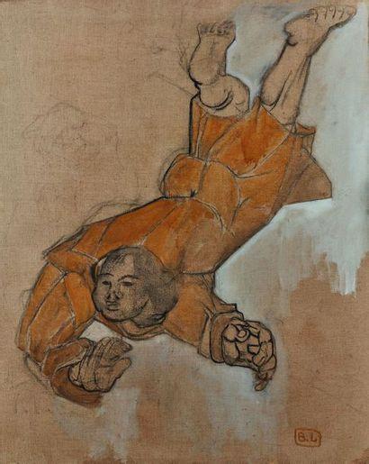 Bernard LORJOU (1908-1986) : Étude de personnage....