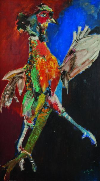 Bernard LORJOU (1908-1986) : Le Coq de Rambouillet,...