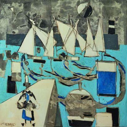 Claude VENARD (1913-1999) : Les Voiliers....