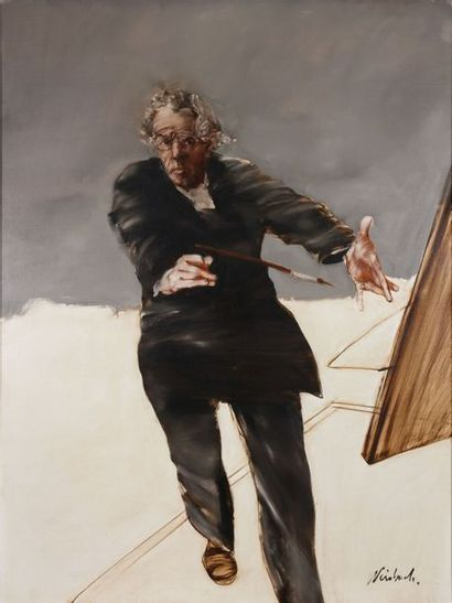 Claude WEISBUCH (1927-2004) : Autoportrait....