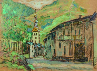 Maxime MAUFRA (1861-1918) : L'Eglise de Bozel,...