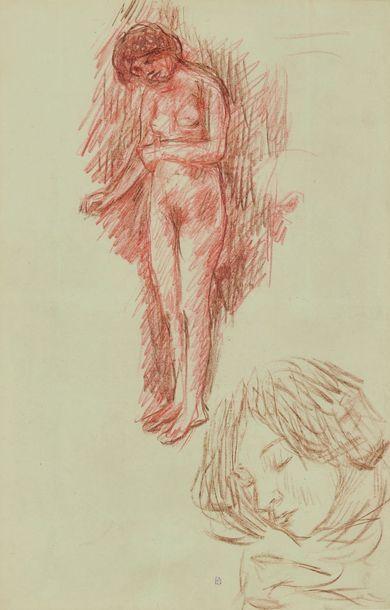 Pierre BONNARD (1867-1947) : Etude de femme...
