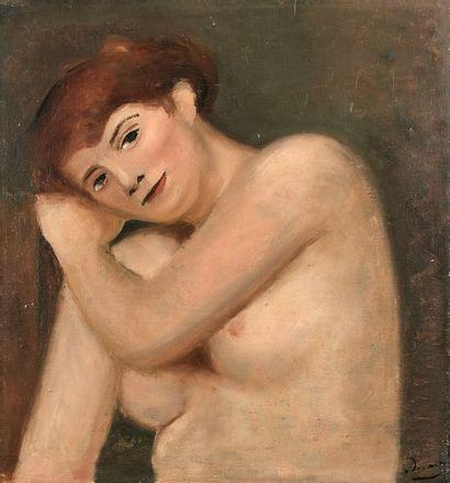 André DERAIN (1880-1954) : Buste de femme...
