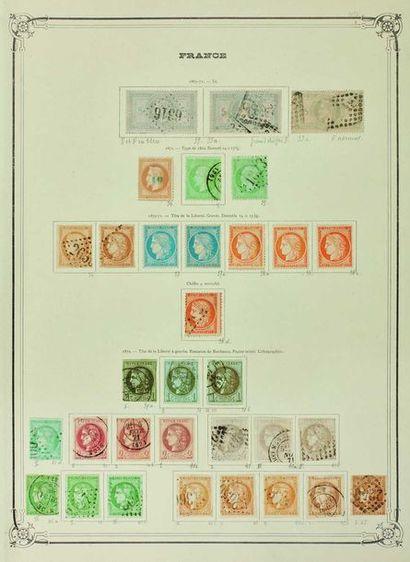 France. Émissions 1849/1900. Collection de...