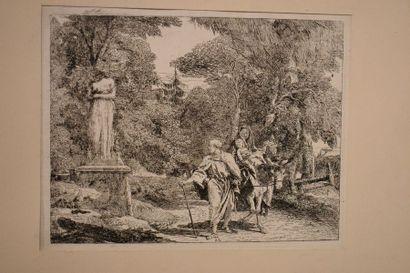 Jean-Baptiste TIEPOLO (1696-1770) : La Fuite...