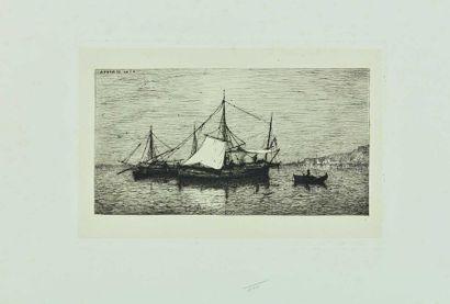 Adolphe APPIAN (1818-1898) : Barques de Cabotage...