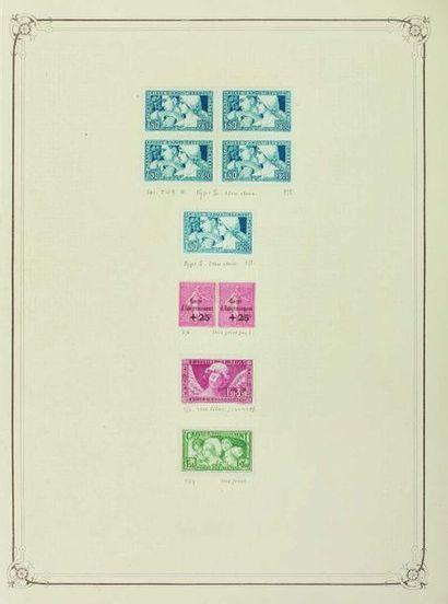 France. Émissions 1900/1940. Collection de...