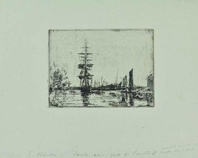 Eugène BOUDIN (1824-1898) : Marine, c. 1897....