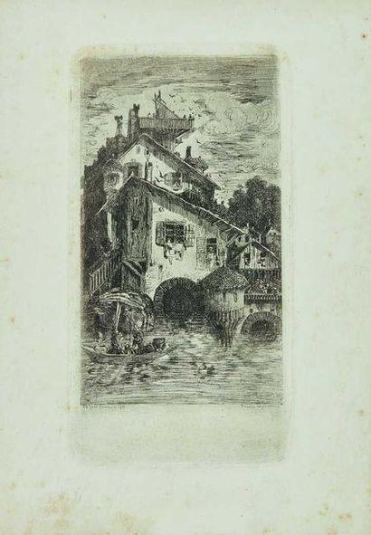 Rodolphe BRESDIN (1822-1885) : Le Moulin...