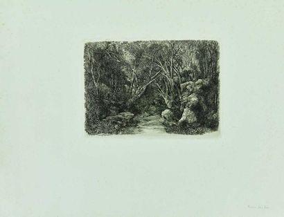Rodolphe BRESDIN (1822-1885) : Le Ruisseau...