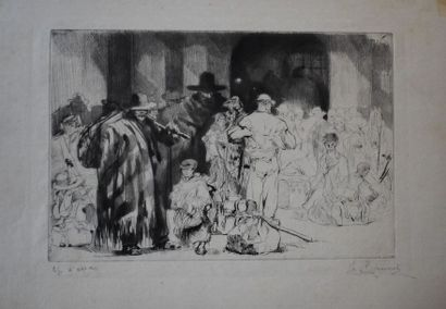 Auguste BROUET (1872-1941) : Les Emigrants...