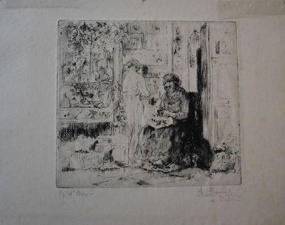 Auguste BROUET (1872-1941) : L'Herboriste....