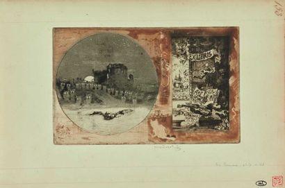 Félix BUHOT (1847-1898) : Ex-libris de Léon...