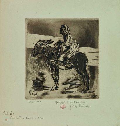 Félix BUHOT (1847-1898) : La Cacoletière...
