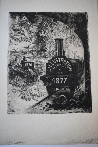 Félix BUHOT (1847-1898) : Frontispice pour...