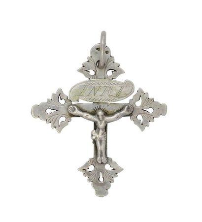 Croix grille de Chambéry en argent, à décor...