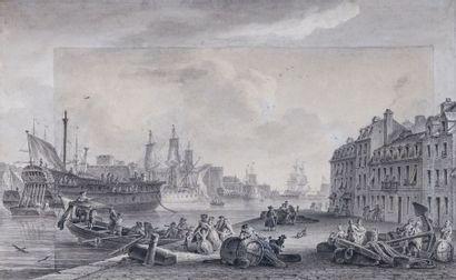 Nicolas-Marie OZANNE (1728-1811) : L'entrée...