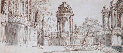 Giuseppe VALERIANI (1690-1761) : Vue d'un...