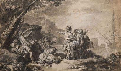 Attribué à Jacques Philippe de LOUTHERBOURG...