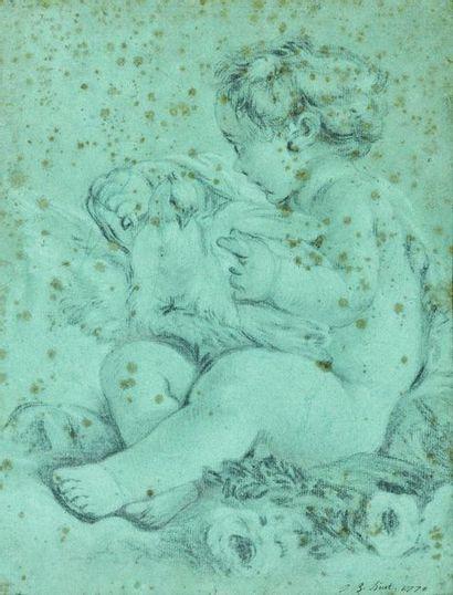 Jean Baptiste HUET (Paris, 1745-1811) : Amour...