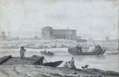 Ecole française de la fin du XVIIIe siècle...