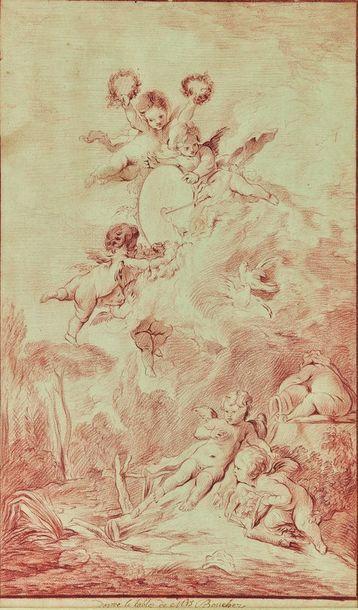 Ecole française du XVIIIe siècle : La Cible...