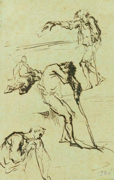 Jean-François MILLET (1814-1875)  Feuille...
